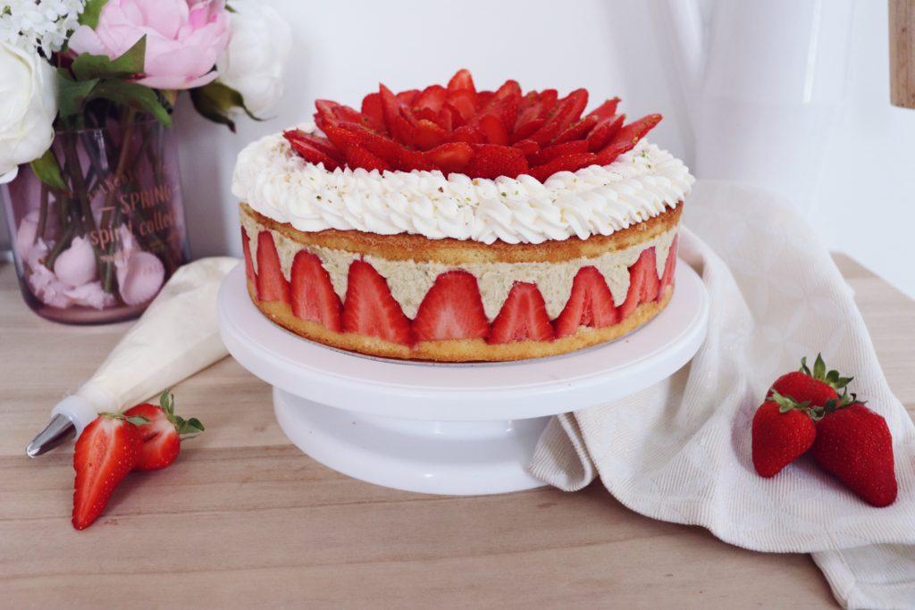 fraisier pistache sans gluten patisserie léa patisseries inspirées