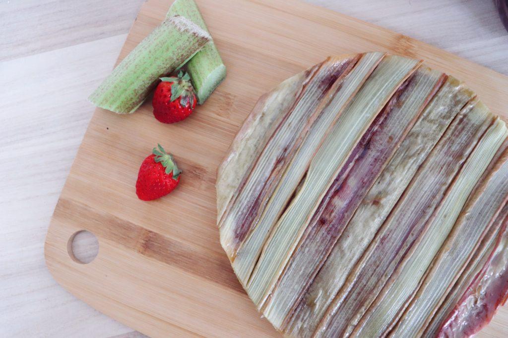 tarte fraises rhubarbe léa patisseries inspirées