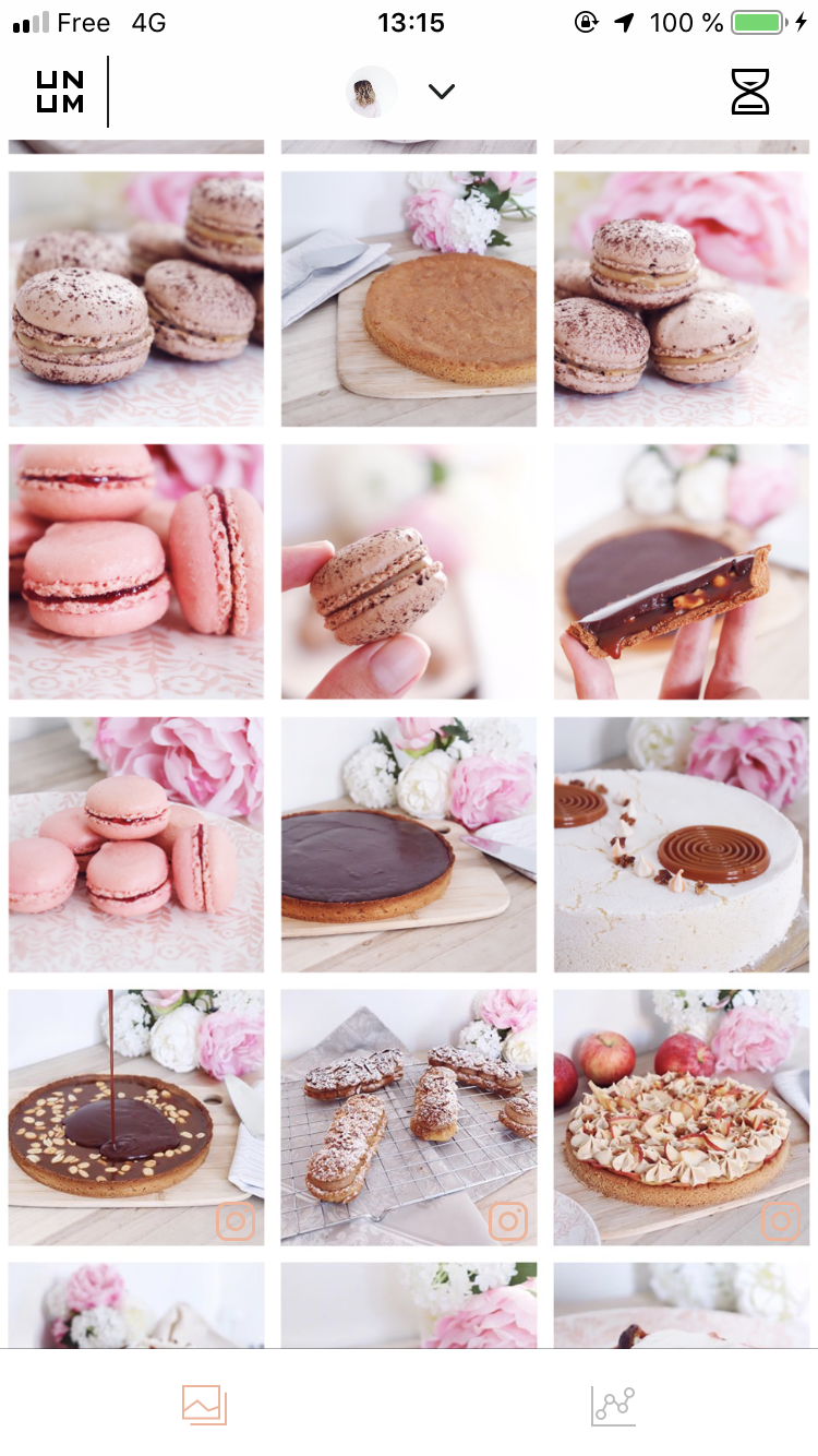 feed instagram léa patisseries inspirées