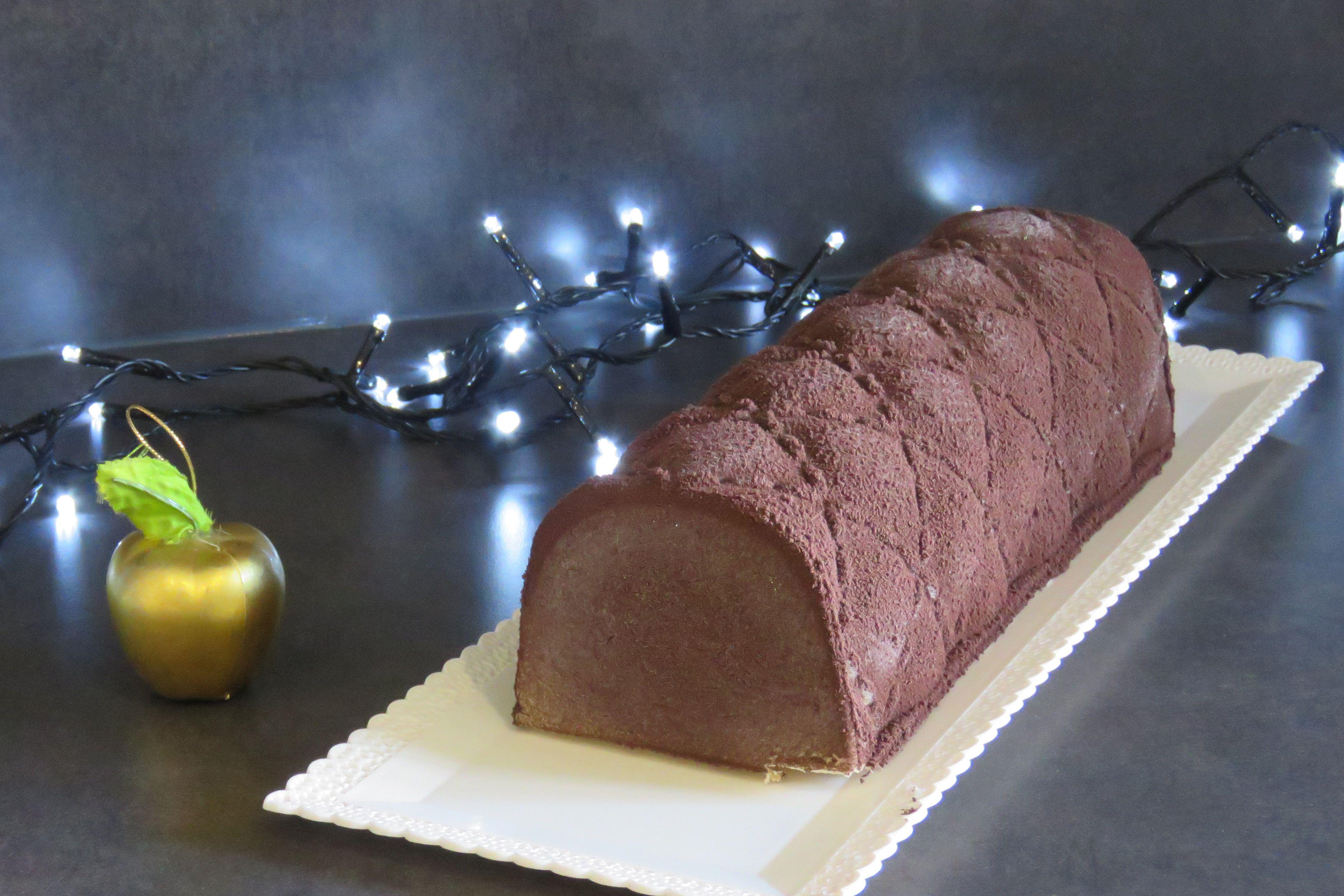 buche de noel chocolat dulcey praline léa patisseries inspirées