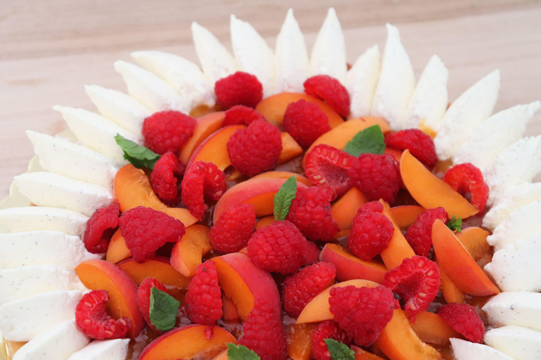 tarte abricots framboises léa patisseries inspirées