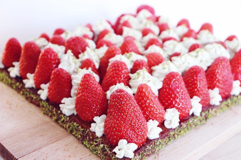 tarte fraises pistache léa patisseries inspirées