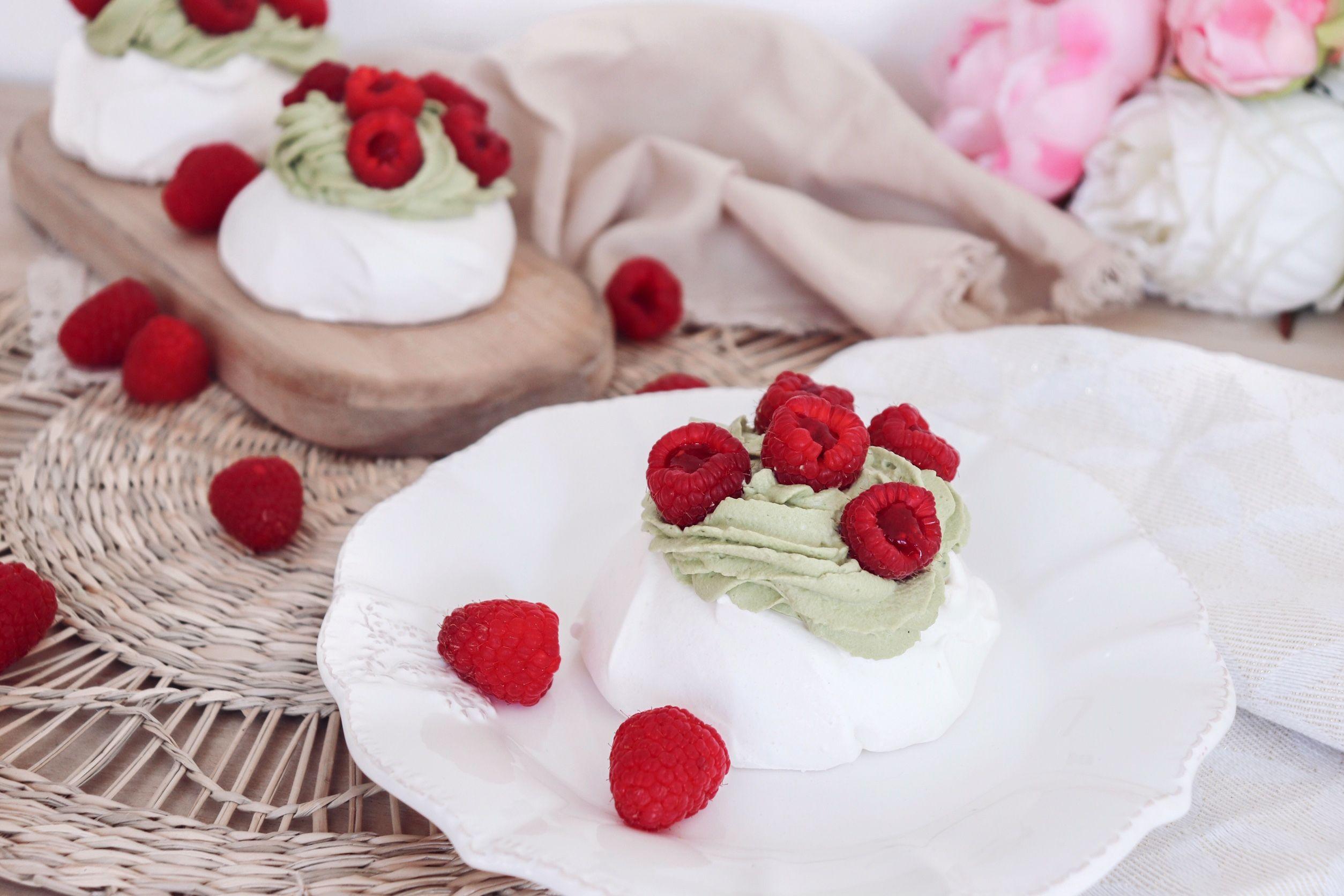 pavlova matcha framboises recette patisserie léa patisseries inspirées