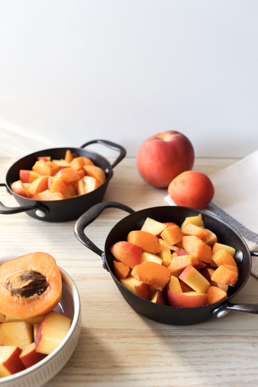 crumble peches abricots recette patisserie léa patisseries inspirées