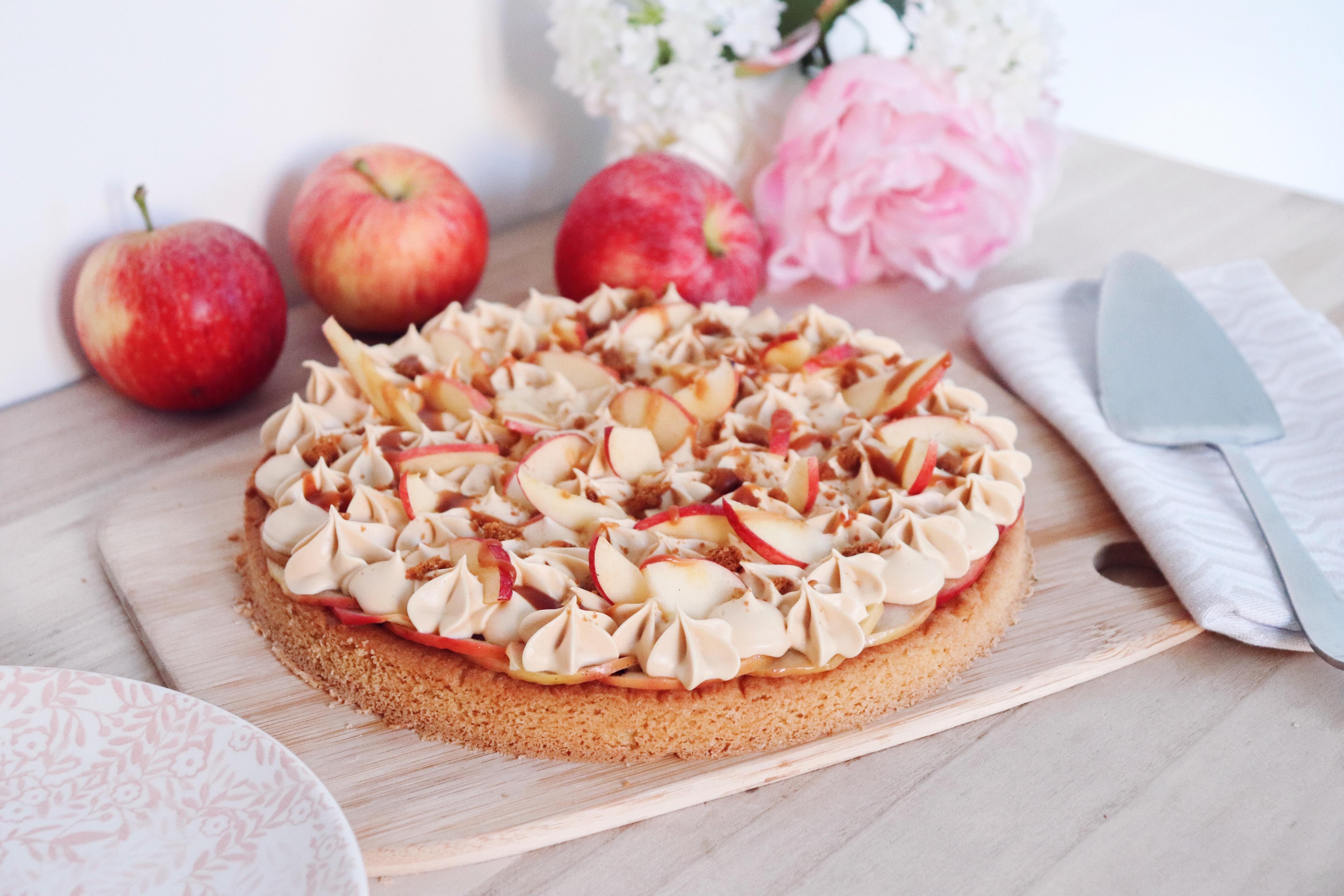 folie d'automne tarte fantastik pomme caramel beurre salé léa patisseries inspirées