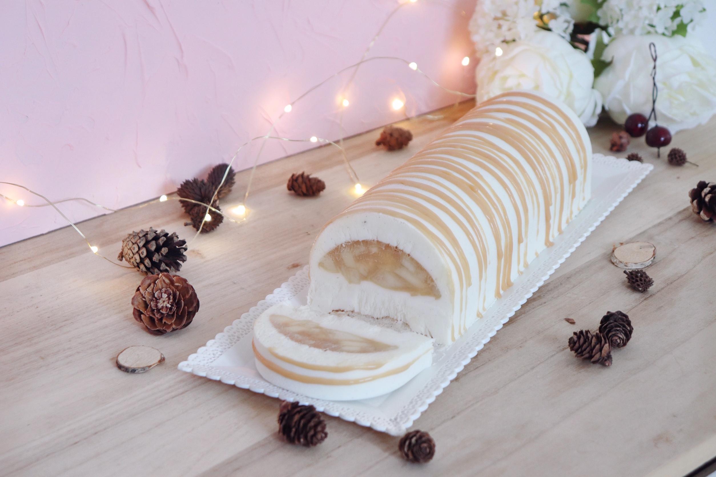 buche pomme-caramel recette patisserie léa patisseries inspirées