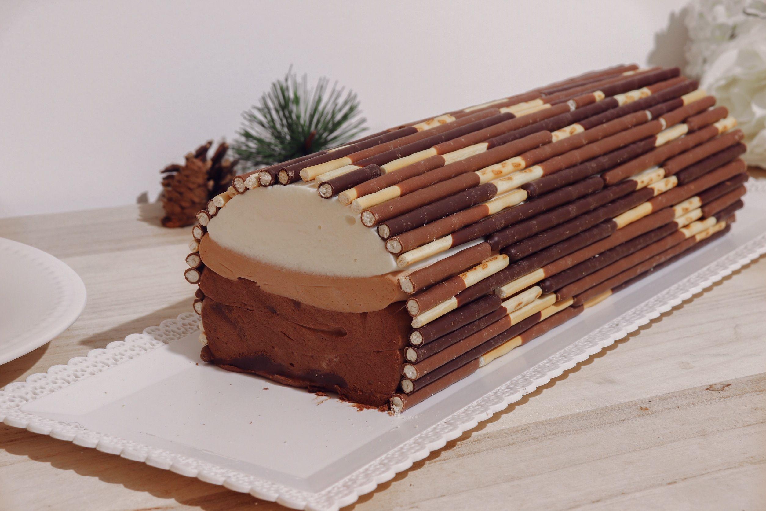bûche aux trois chocolats recette patisserie léa patisseries inspirées