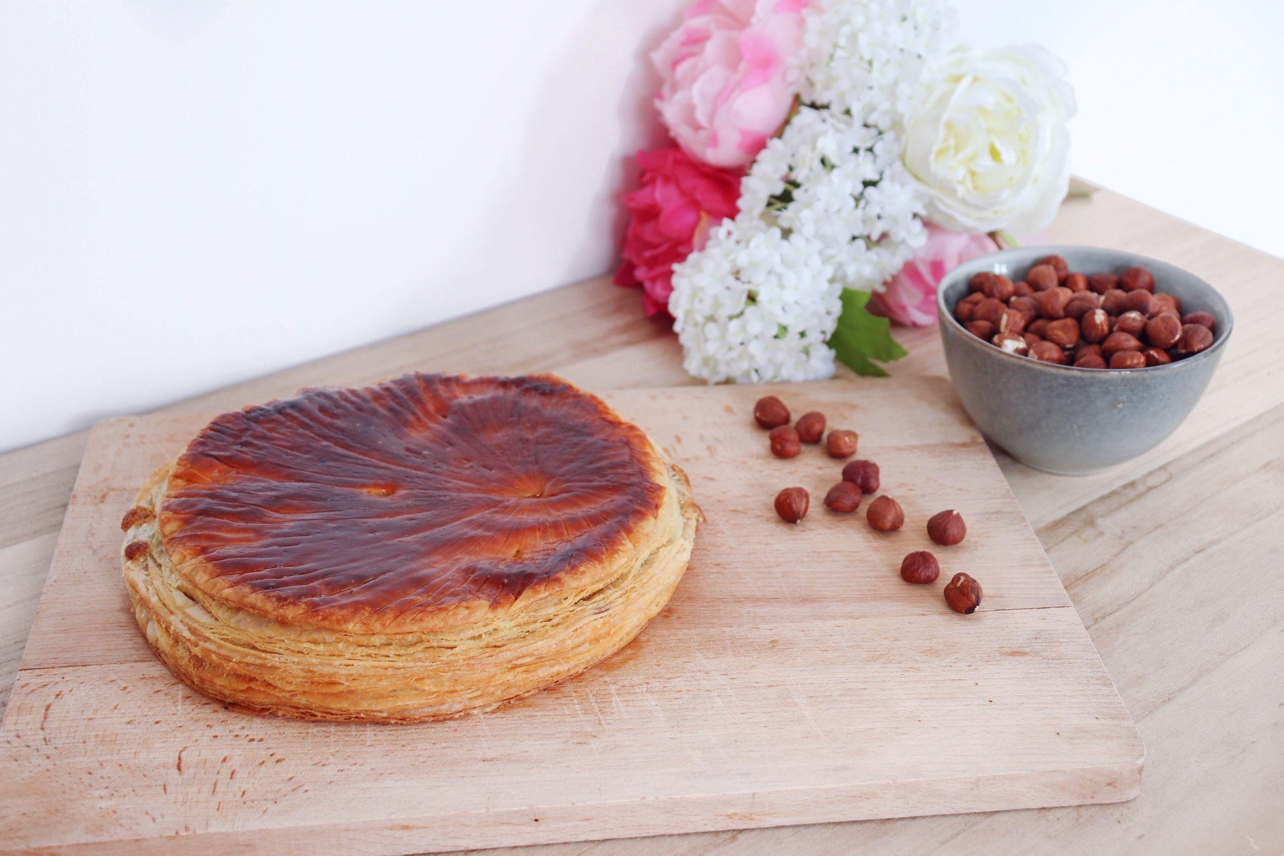 galette des rois à la noisette pâte feuilletée inversée recette patisserie léa patisseries inspirées