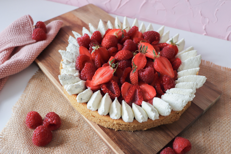 tarte fraises framboises recette patisserie léa patisseries inspirées